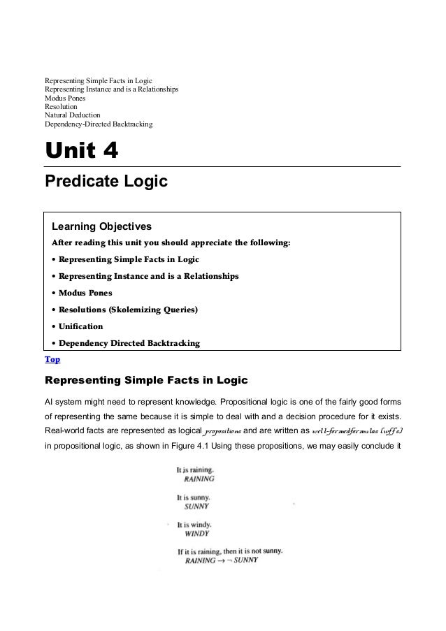 Representing Simple Facts in LogicRepresenting Instance and is a RelationshipsModus PonesResolutionNatural DeductionDepend...