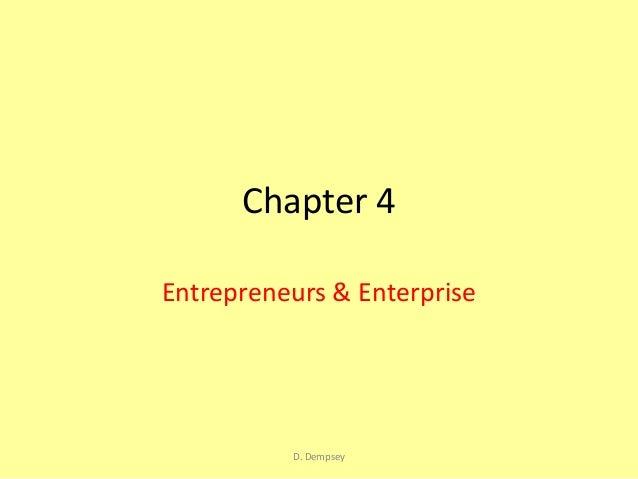 Chapter 4 lc business enterprise and entrepreneurs