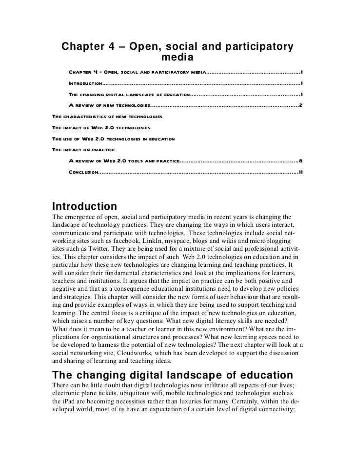 Chapter 4 open, social and participatory media v2