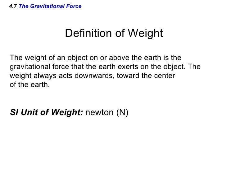 Gravitational Force Definition