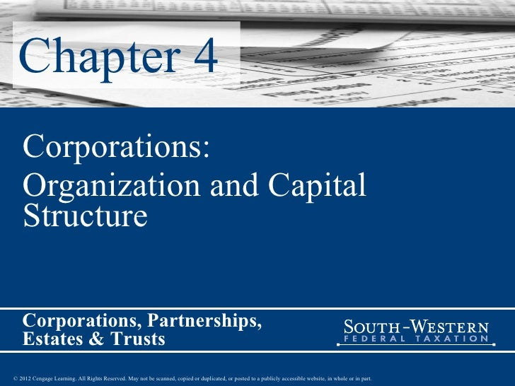 Chapter 4 Corporations: Organization and Capital Structure