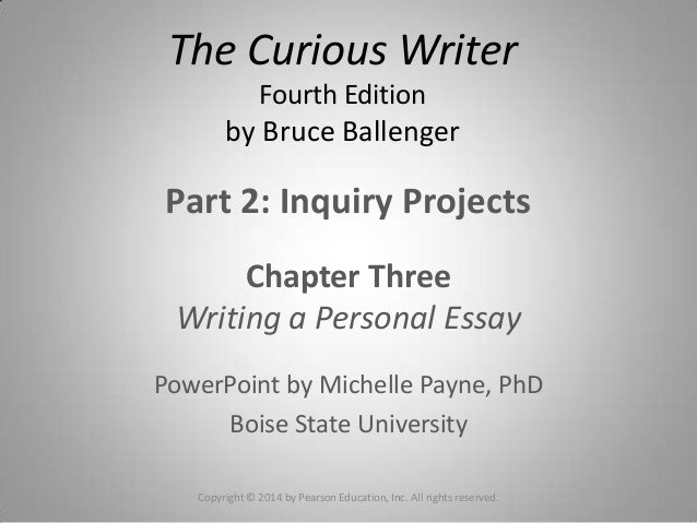 chapters of thesis paper