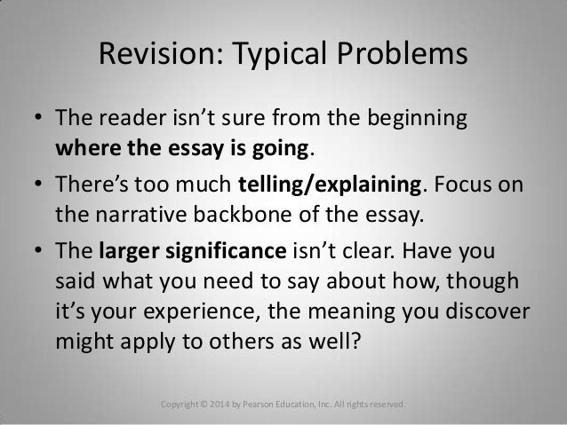 personal experience narrative essay examples