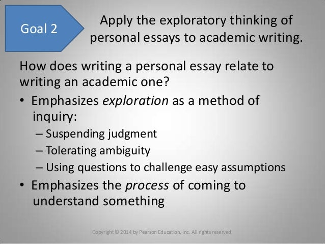 Chapter 8 writing an exploratory essay