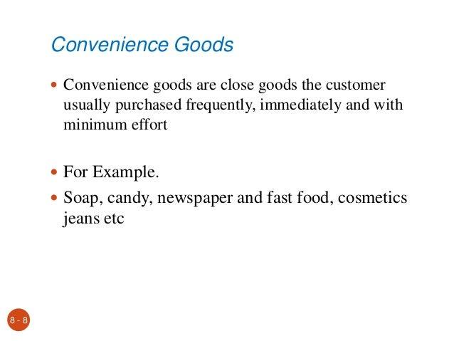 Comparison Goods And Convenience Goods Convenience Goods