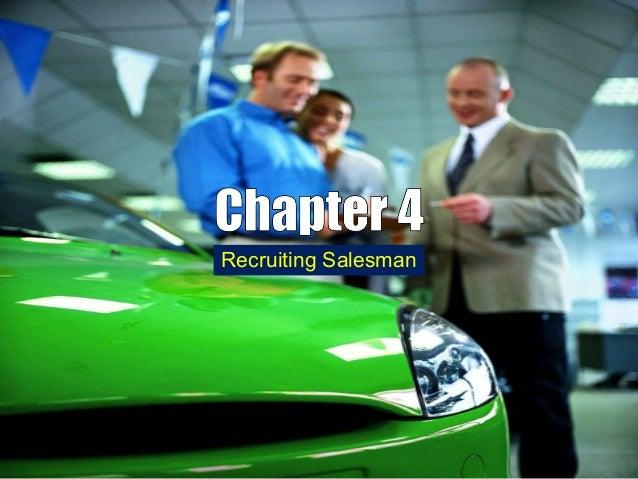 Chapter 4 recruiting salesman