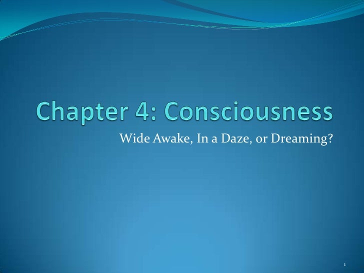 Wide Awake, In a Daze, or Dreaming?                                           1