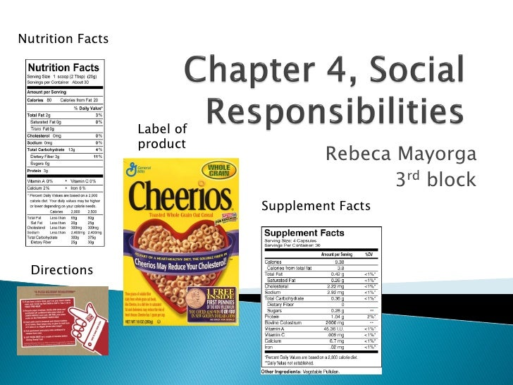 Nutrition Facts                       Label of                   product                                       Rebeca Mayo...