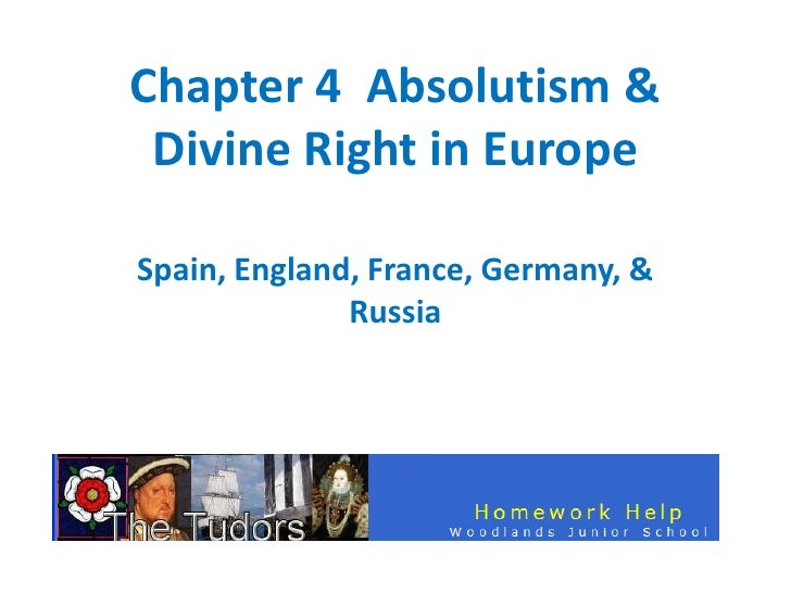 Chapter 4 Absolutism & Divine Right in EuropeSpain, England, France, Germany, &              Russia