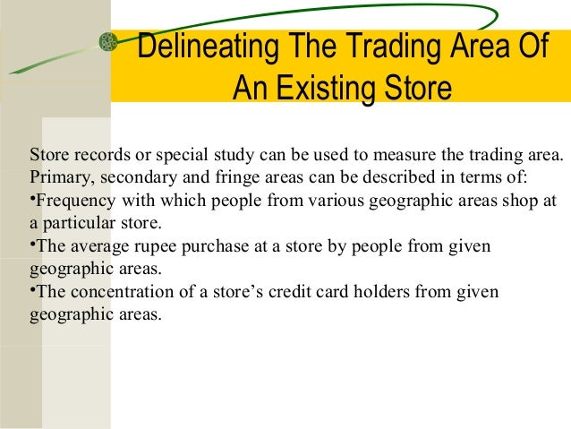 Computerized trading area analysis models