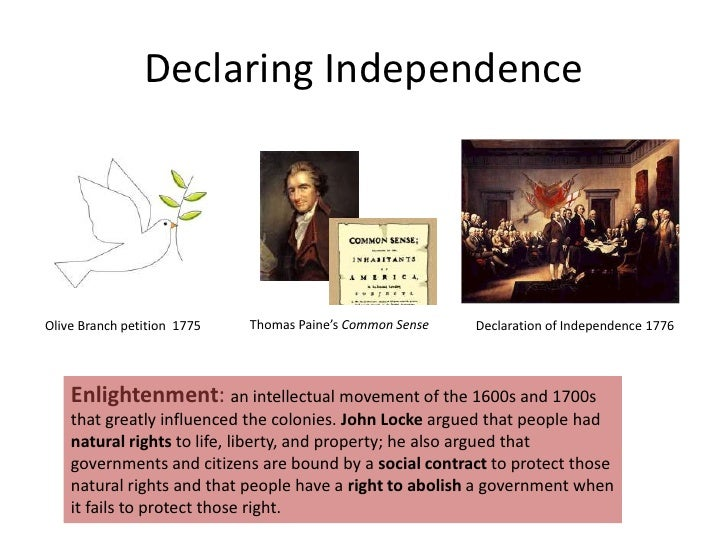 essay common sense and the declaration of independence