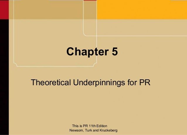 Chapter 5Theoretical Underpinnings for PR           This is PR 11th Edition          Newsom, Turk and Kruckeberg