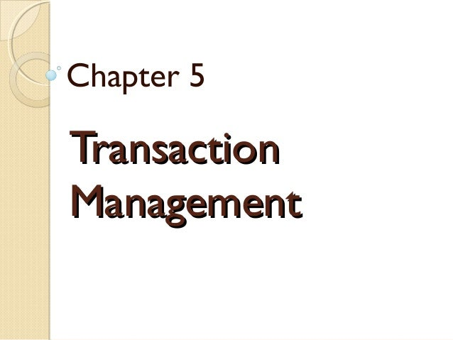 database management system Chapter 5
