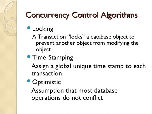 Which databases provide the best concurrency control?