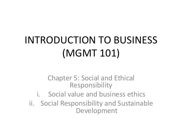 introductions to ethics and social responsibility Chapter 1 introduction to corporate social responsibility and ethics 3  chapter 2 business ethics and the meetings and events industry 29  chapter 3.