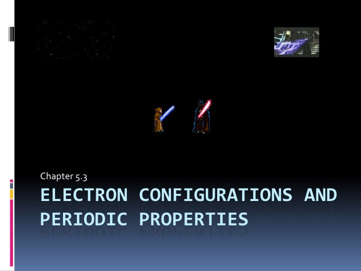 Chapter 5.3 : Electron Configuration and the Periodic Table