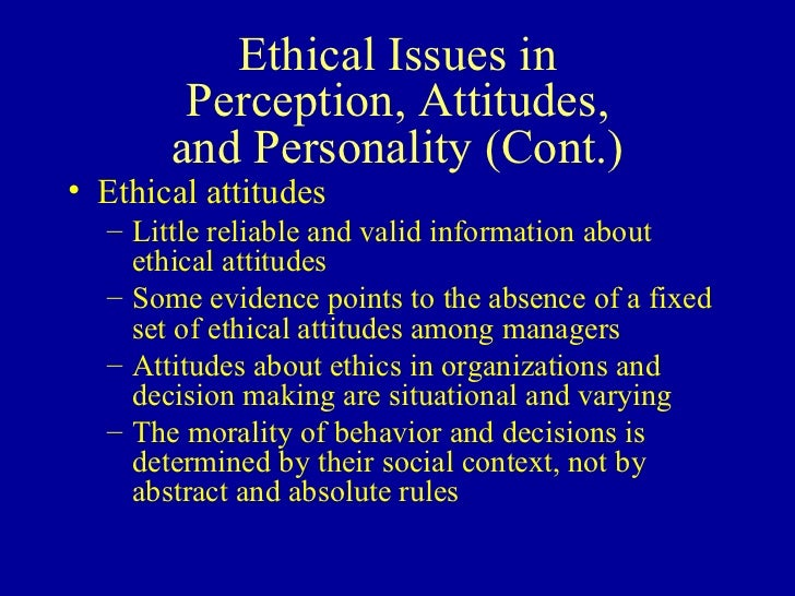 attitude values and ethics
