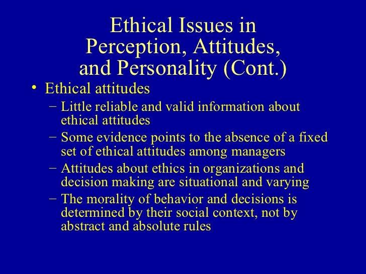 attitude values and ethics