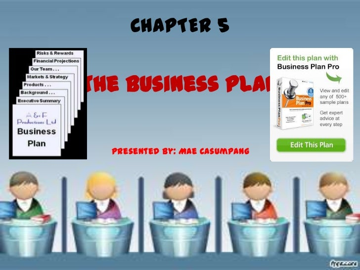 CHAPTER 5The Business Plan  Presented by: Mae Casumpang