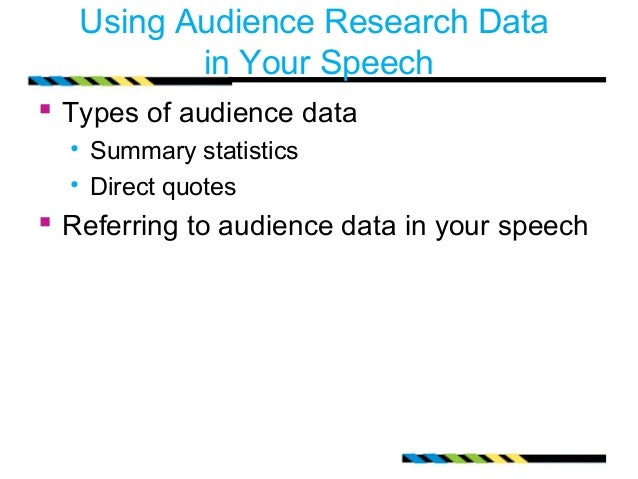 a discussion of adapting to the audience Audience analysis – adapting your message to your audience once you have selected your speech topic it is imperative that you analyze your audience.