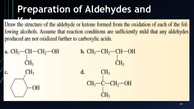 aldehyde ketone tests and preparation of derivatives Lab report-determining reactions of aldehydes and  belonged to using the different reaction tests  whether a substance is an aldehyde or ketone,.