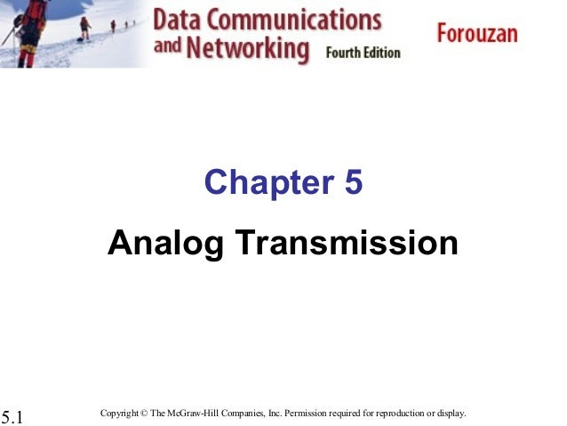 Chapter 5 analog transmission  computer_network