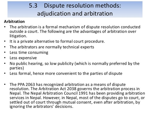 a description of the dispute resolution processes What is an example of a good dispute resolution clause and why provide that the dispute resolution process is a condition precedent to litigation10 in scott v.