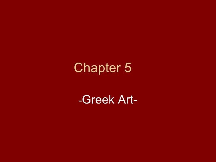 Chapter 5 Greek