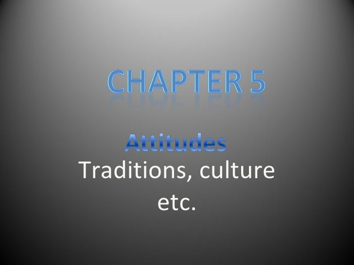 Traditions, culture etc.