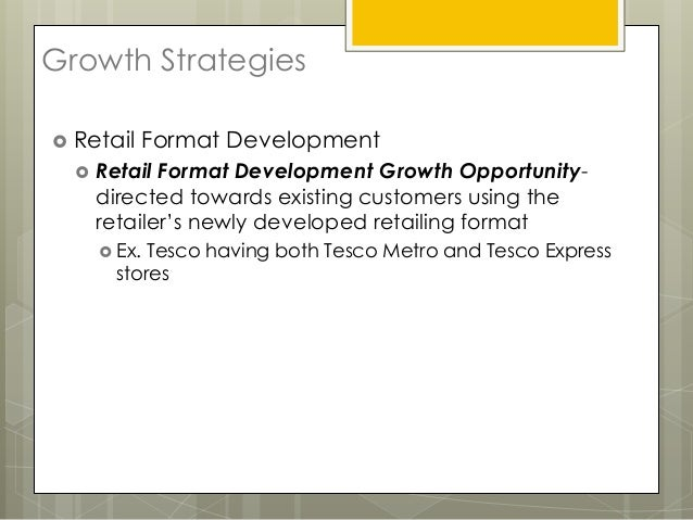 mcdonalds and tesco growth strategies