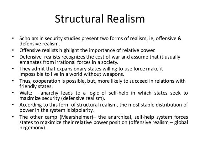an introduction to structural realism after the cold war Springerlink search home contact us introduction the end of the cold in his article 'structural realism after the cold war' published at the dawn of.