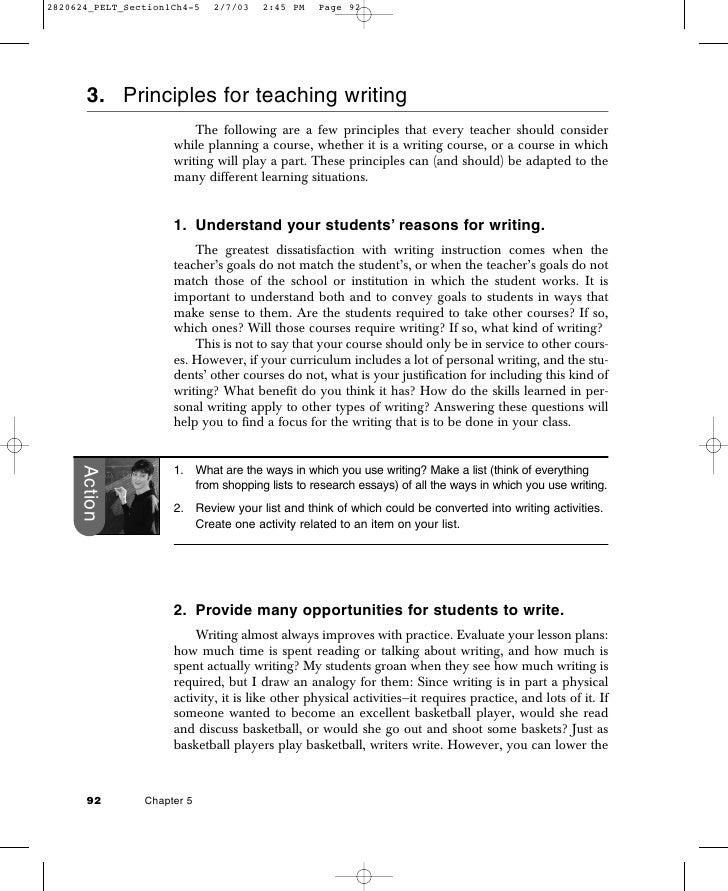 principles for teaching writing
