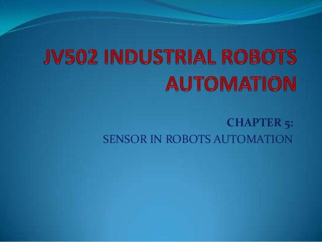 Chapter5 sensors of robots automation latest