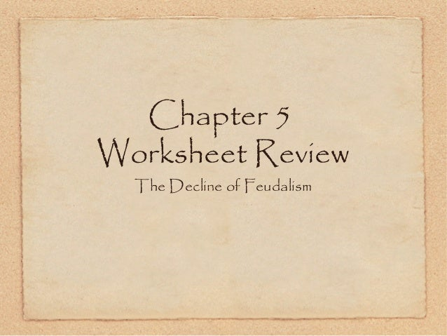 Chapter 5 worksheet review