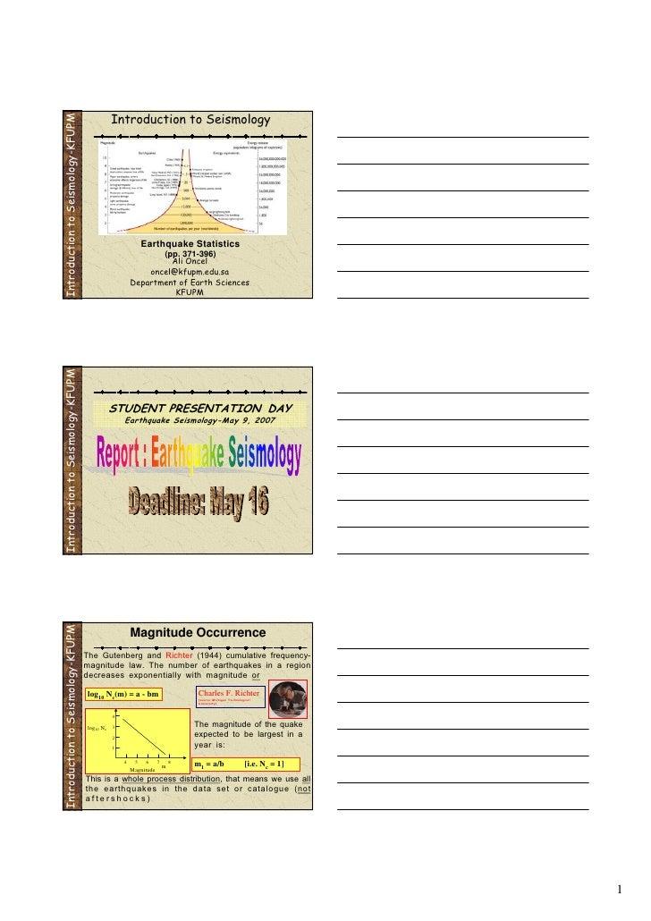 Introduction to Seismology Introduction to Seismology-KFUPM                                                              E...