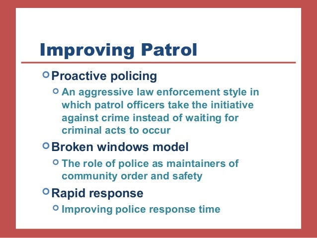 """community policing model of law enforcement, is it really curtailing crime? essay Read this essay on community and problem-solving policing prevent crime """"the community policing model community policing as """"a law enforcement."""