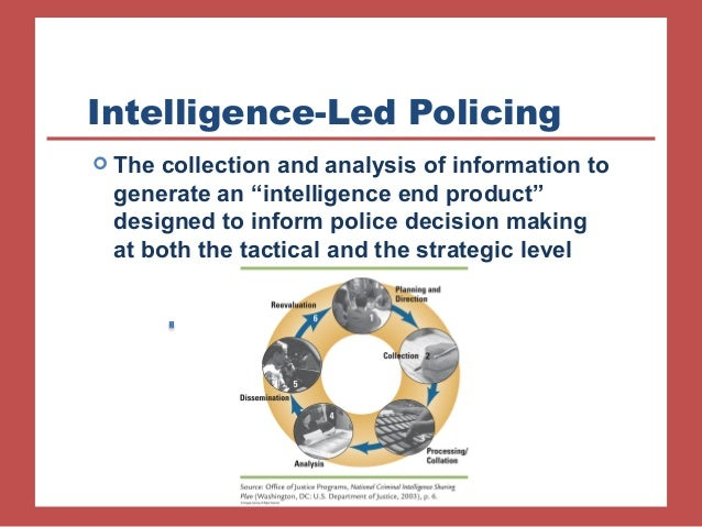 intelligence led policing and information sharing In the area of policing,  facilitating information sharing and the exchange of best practices  promoting intelligence-led policing monitoring police work for compliance with international human rights standards and supporting regional and international police co-operation policing.