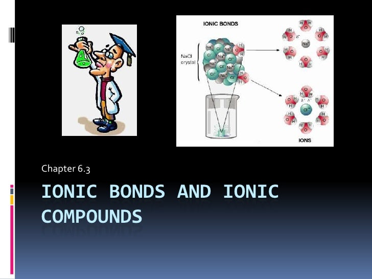 Ionic bonds and ionic compounds<br />Chapter 6.3<br />
