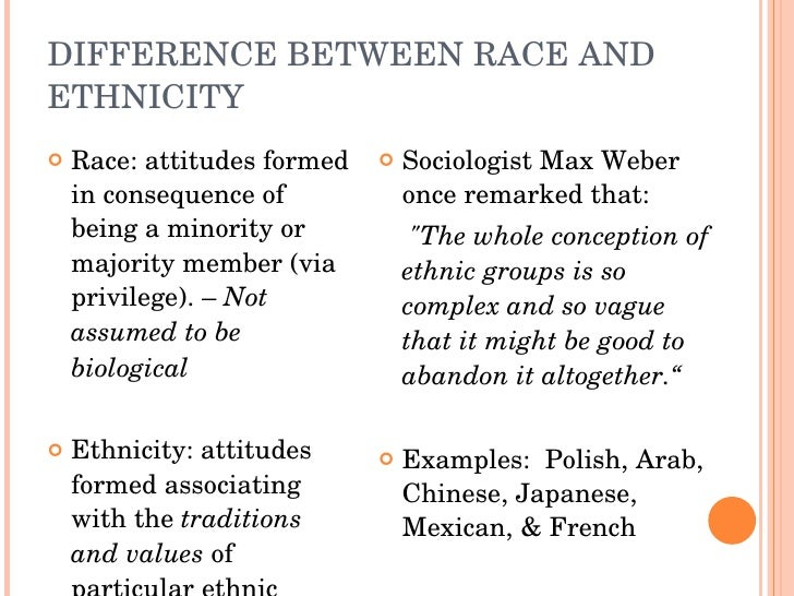 Race And Ethnicity Essay
