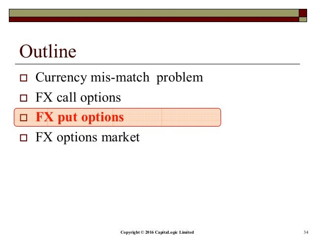 Options on fx
