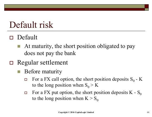 Fx options settlement risk