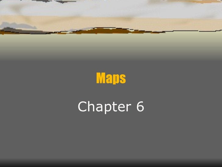Chapter 6  maps