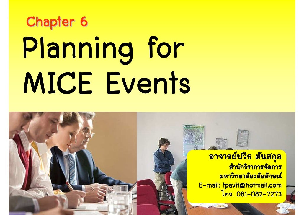 Chapter 6  Planning MICE Events
