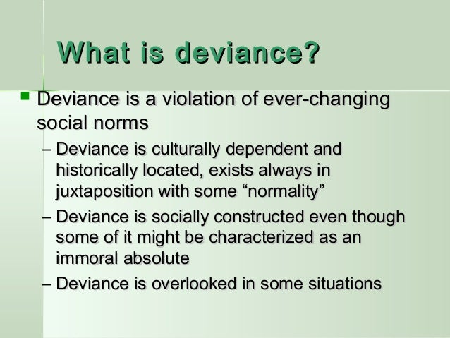 deviance essay Sociology essay - to what extent do you agree that the sociology of deviance and control has little.