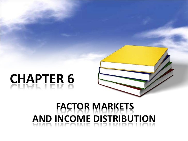 CHAPTER 6        FACTOR MARKETS   AND INCOME DISTRIBUTION