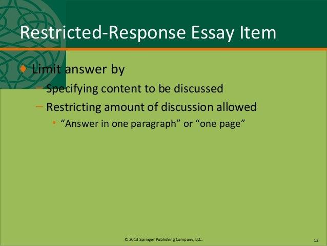 define extended response essay