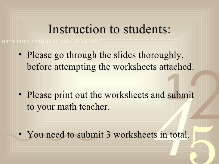 Instruction to students:0011 0010 1010 1101 0001 0100 1011     • Please go through the slides thoroughly,                 ...