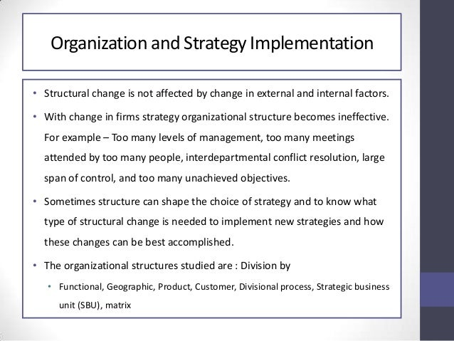 Strategy implementation and control for Implementation approach template