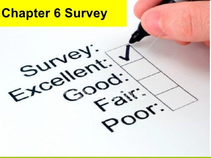 Chapter 6 Survey