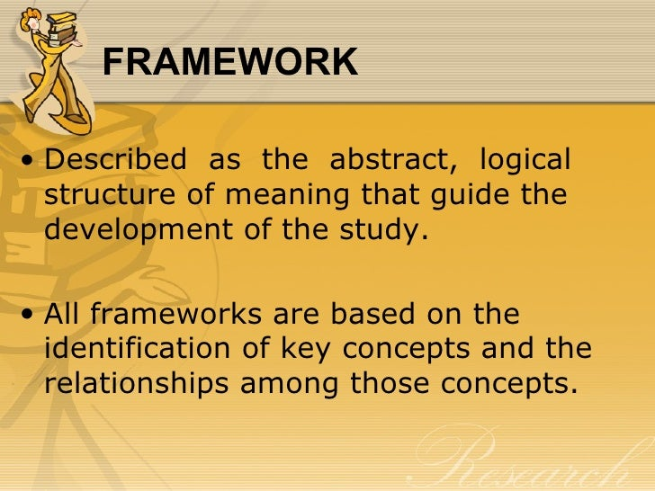 logical structure or theoretical framework Desjardins (2010) states a theoretical framework is a logically structured  representation of the concepts, variables, and relationships involved in a specific  study.